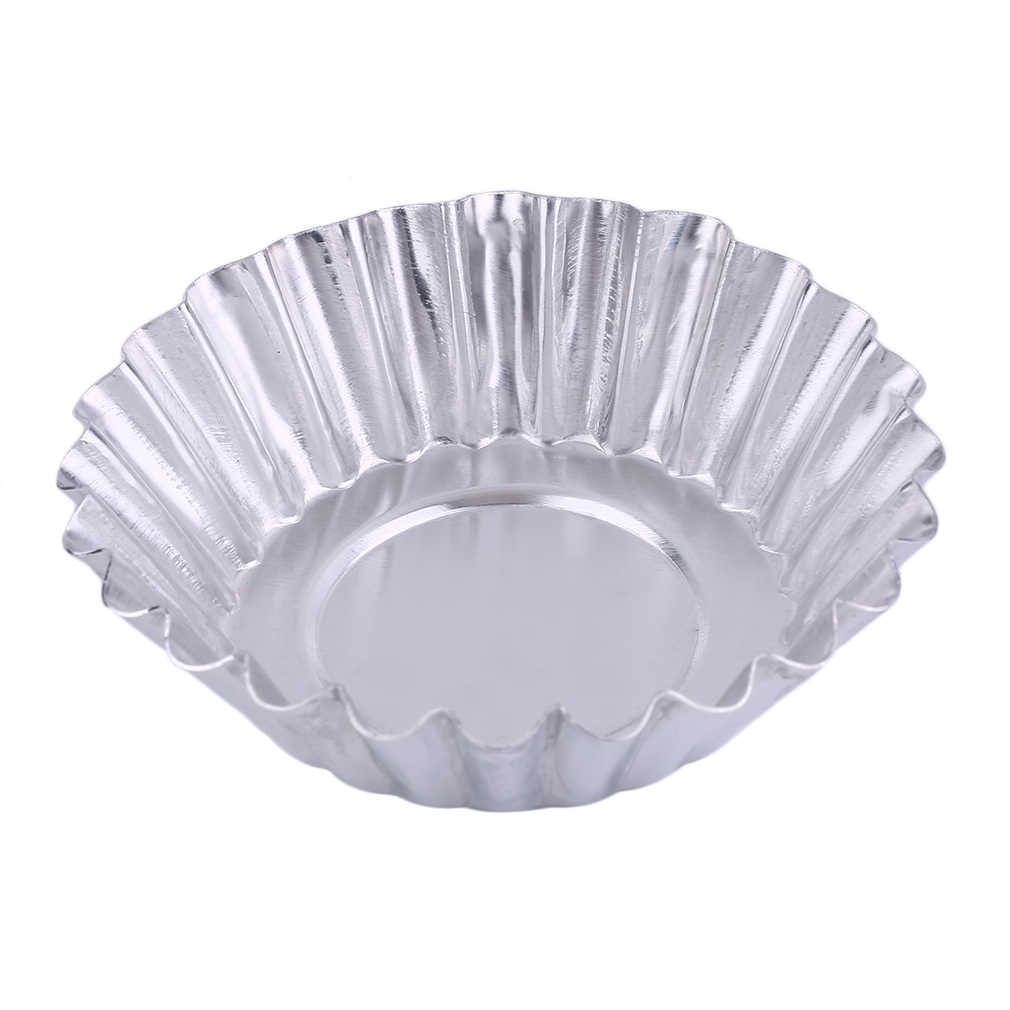 Newest Flower Shape Practical Egg Tart Aluminum Cupcake Cake Cookie Mold Professional Lined Mould Kitchen Tin Baking Tools