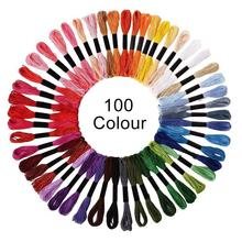 36/50/100pcs Skeins Of Multicolor Cross Stitch Threads Cotton Sewing Skeins Embroidery Thread Floss Skein Kit DIY Sewing Tools jiwuo 100 color embroidery floss cross stitch cotton bamboo embroidery thread sewing skeins floss hoop kit sewing craft tool
