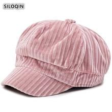 SILOQIN  Woman Winter Hats Fashion Trend Warm Newsboy Hat Foldable Elegant Lady Brands Berets Leisure Tourism Motion