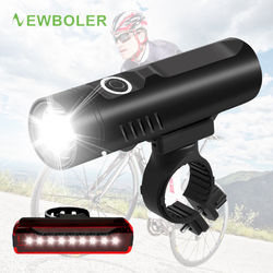 NEWBOLER בוהק פנס לאופניים P90 P50 L2 T6 אופני LED אור USB נטענת סוללה עמיד למים מול אור רכיבה על אופניים מנורה
