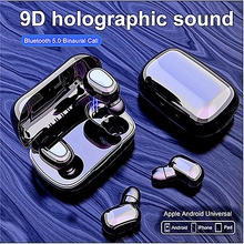 AA L21 Bluetooth Earphone Wireless Earbuds 5.0 TWS Headsets Dual Earbuds Bass Sound Huawei Xiaomi Iphone Samsung Mobile Phones baseus s01 bluetooth earphone wireless headsets for iphone samsung xiaomi magnetic switch earbuds auricular bluetooth earpieces