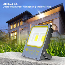 LED White Security Light  50W (100 Watt) Outdoor Flood Dusk To Dawn 5000K IP65 Waterproof for Garage Patio Garden
