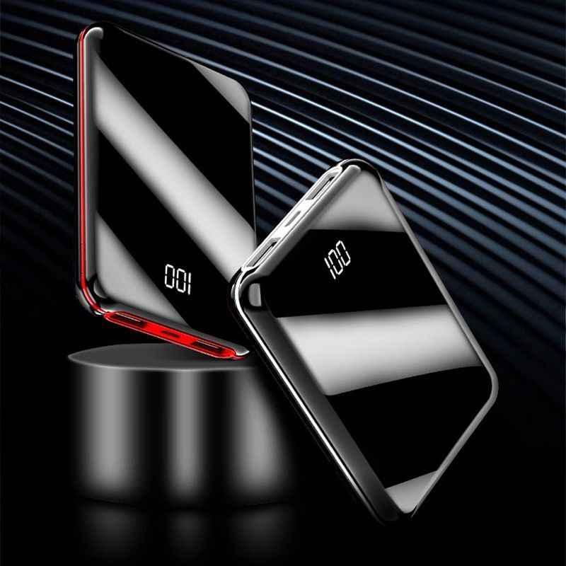 محمول صغير 30000 MAh قوة البنك ل كل المحمول باور ربنك لشحن الهاتف Pover البنك شاحن 2 منافذ USB بطارية خارجية Poverbank