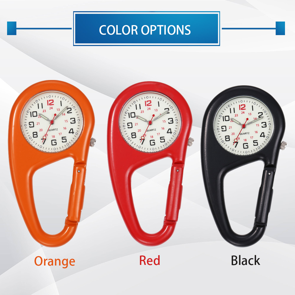 Hc096dc4df536487e94e1db80c5bd449fk - Outdoor Round Dial Arabic Numbers Quartz Analog Clip Carabiner Hook Watch pocket watch Strong luminous FOB watch
