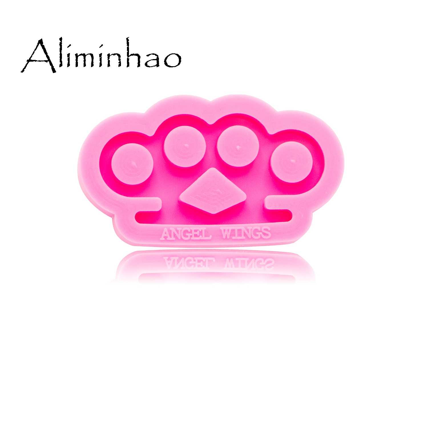 Dy0268 Shiny Mini Brass Knuckles Shape Mold Silicone Molds Diy