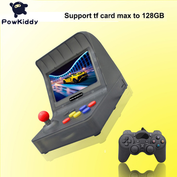 Powkiddy Ретро аркадные игры FC HDMI Ручной игровой геймпад 4,3 дюйма IPS 64 бит 3000 видеоигр классический PS1 Android USB джойстик