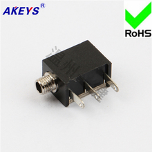 15 PCS PJ-213M power socket 2.5 headphone 3 pins with thread 2.5MM base
