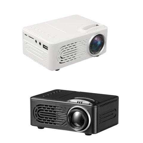 suporta 1080 p hd conexao do telefone movel projetor cor branca