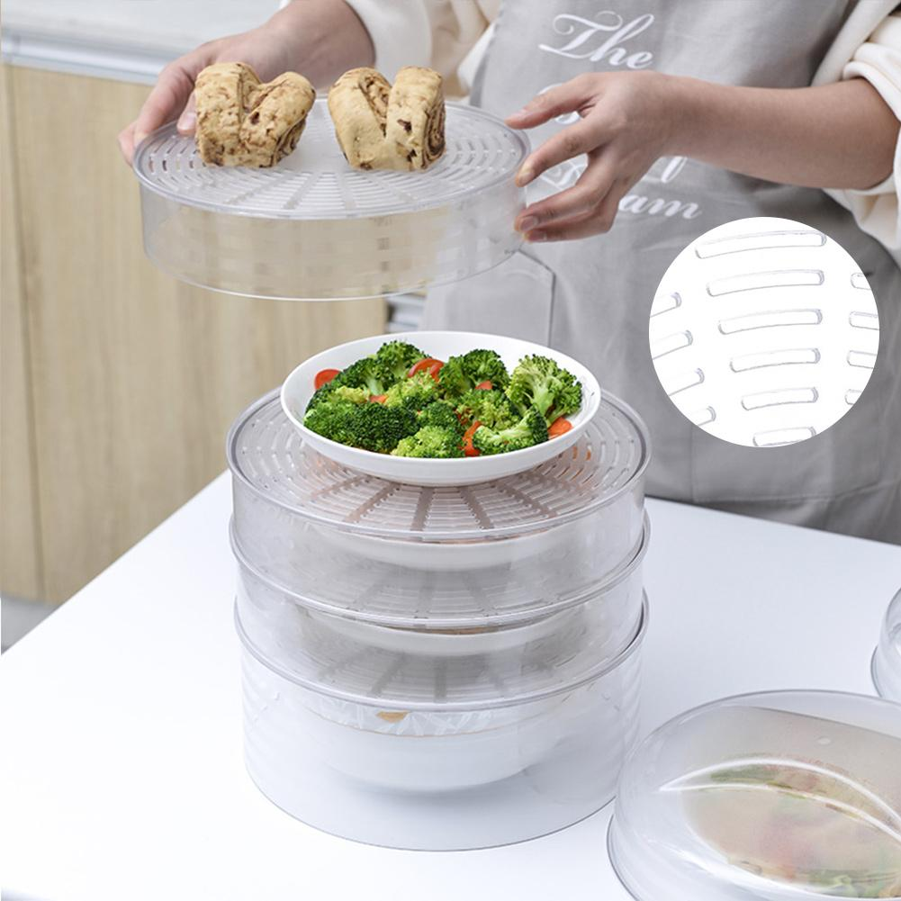 Insulation Dish Cover Meal Food Cover Winter Thick Dust-proof Heating Table Warm Rice Vegetables Cover Leftover Cover Artifact