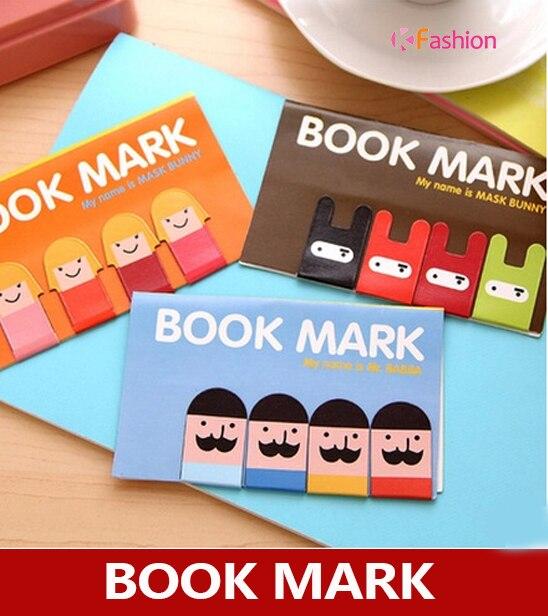 Girl / Mustache / Ninja Bunny Magnetic Bookmark , Cute Cartoon Magnet Book Page Mark