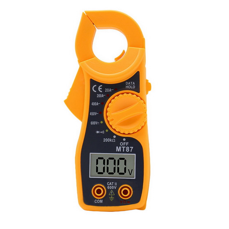 New 1Pcs MT87 Clamp Meters LCD Digital Multimeter Measurement AC/DC Voltage Tester Current Resistance High Quanlity Clamp Meters