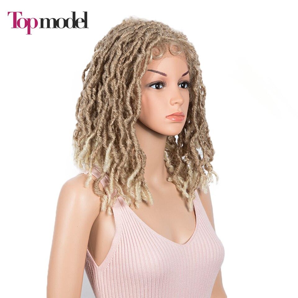 peruca de cabelo de crochê com cabelo