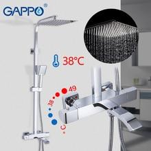 Grifo de ducha GAPPO conjunto de ducha termostática Sistema de ducha de agua caliente y fría lluvia mezclador de bañera ducha termostática G2407 40