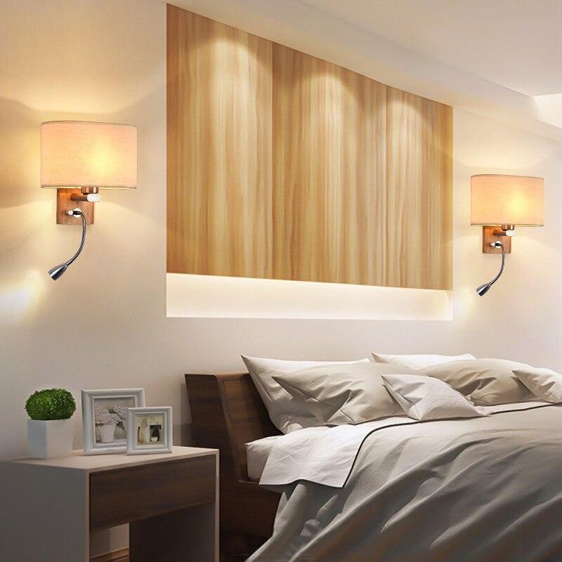 luzes led lampadas parede madeira macica criativo 05