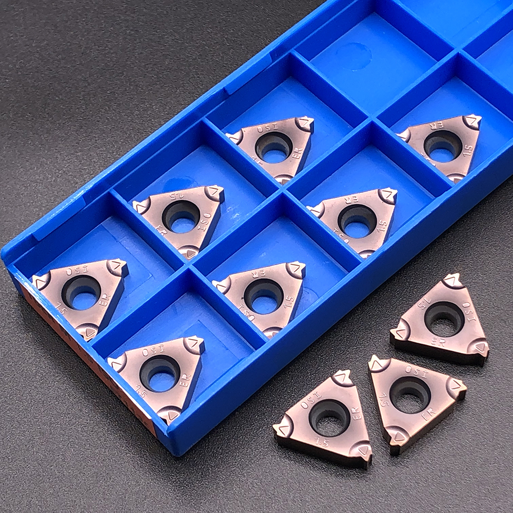 10pcs RCKLCY 16ER M 1.5 ISO FT1125 Carbide Insert Thread Blade cnc Lathe threading Cutter Tool for stainless steels