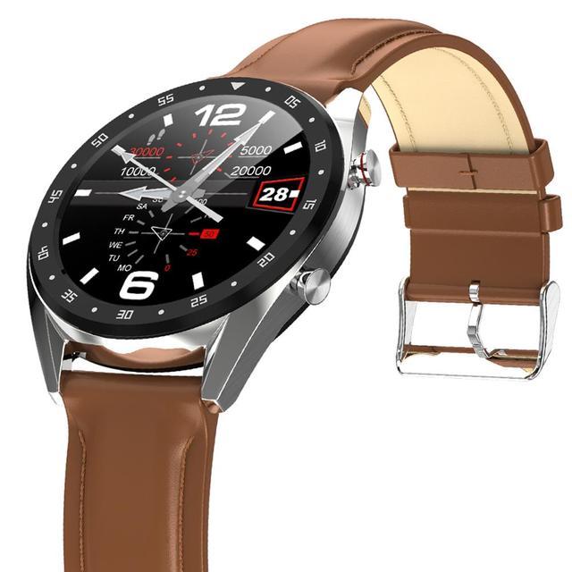 LEMDIOE reloj inteligente deportivo 2019, resistente al agua, con ecg y bluetooth para android y huawei, ip68 y control de la presión sanguínea para hombre