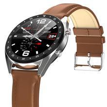 Lemdioe 2019 relógio inteligente esportivo profissional, masculino, à prova d água ip68, com bluetooth, chamadas para android e huawei