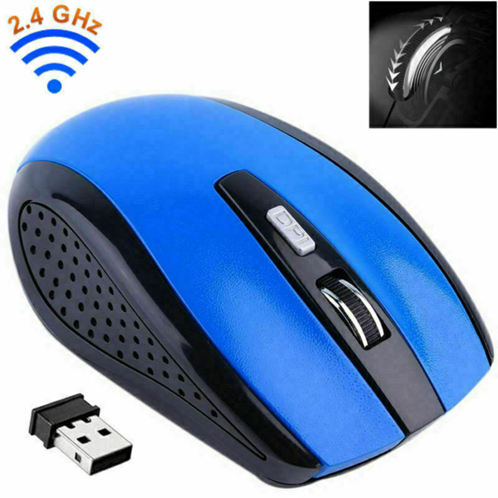 2.4Ghz Wireless Gaming Mouse 2 AAA Batteries USB Computer high sensitivity Gamer Mouse Portable PC & Laptop Accessories D40