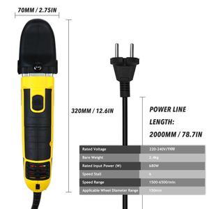 Image 5 - Alta qualidade elétrica dupla ação choque polisher 220v polimento máquina de depilação velocidade ajustável auto lock aleatório