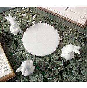 Image 5 - Bunny Coniglio piatto di Ceramica, Piatti per Dessert Cibo Server Vassoio, sveglio Della Torta Del Basamento, da tavola Artigianato regalo per gli amanti di Utensili Da Cucina