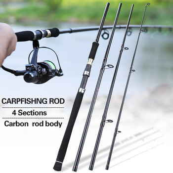 Sougayilang 2.7M 4 Section Fishing Rod Ultralight Weight Spinning Fishing Rod Carbon Fiber Carp Feeder Fishing Rod Tackle Pesca exvoid bullet vibrator penis vibrating ring delay ejaculation adult sex toys for men male clitoris massager cock silicone rings