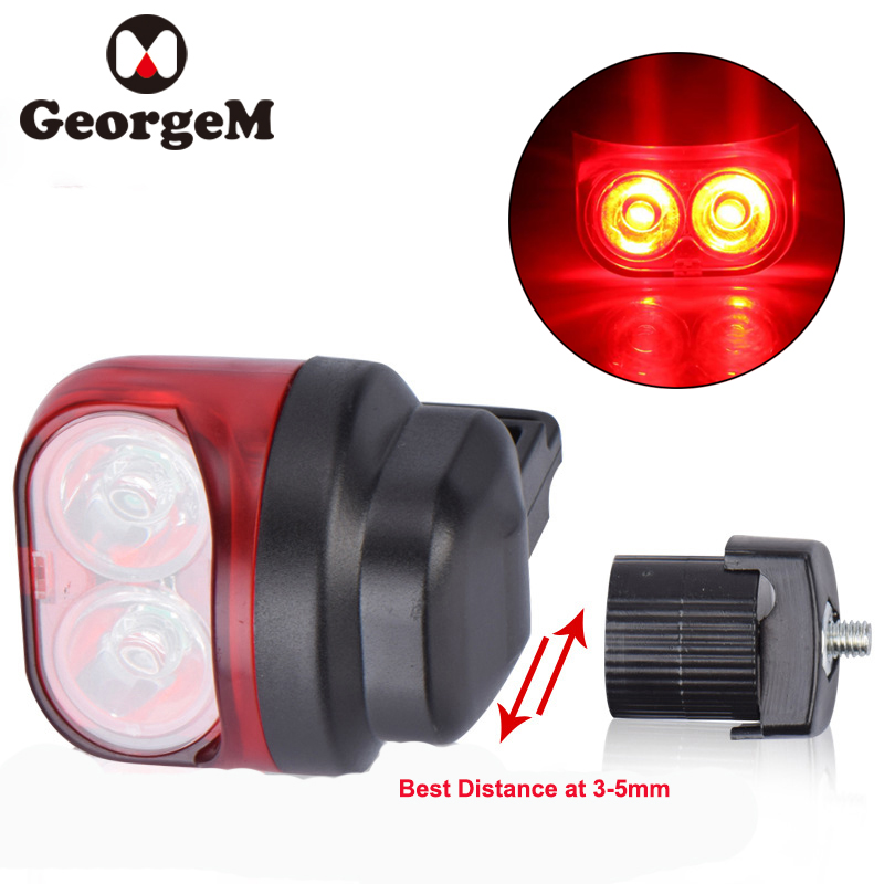 GeorgeM 1set Waterproof Bicycle Light Magnetic Environmental Riding Warning Light Cycling Bike Light Bicycle Accessories