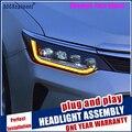 Car Styling per Camry V55 Tutti I Fari A LED 2015-2017 Per Camry Fari led Lente del proiettore di dinamica del segnale di girata