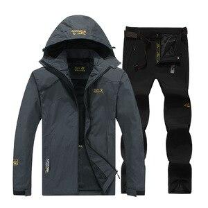 Image 2 - Traje de nieve para snowboard, ropa deportiva para exteriores de invierno, chaquetas de esquí impermeables a prueba de viento + Pantalones con cinturón de nieve, chaleco de snowboard