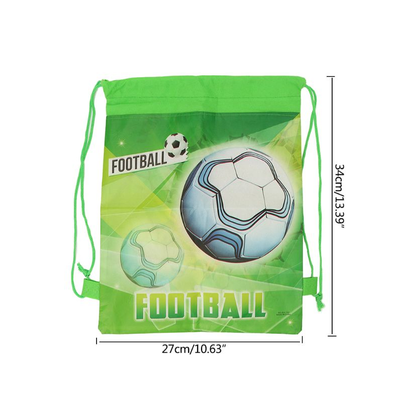 Football Storage Bag Non-woven Fabric Drawstring Bag Outdoor Sport Gym Backpack 27RD