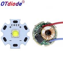 Cree XML2 XM-L2 T6 10 Вт высокой мощности Светодиодный излучатель холодный белый диод 16/20 мм PCB+ 17 мм/22 мм DC3.7V 12V EL драйвер