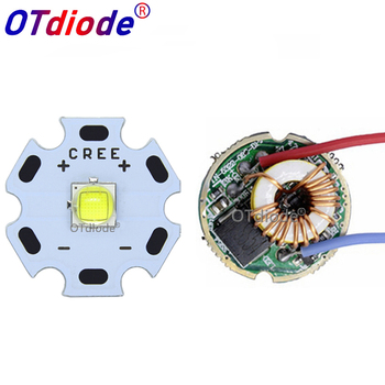 Cree XML2 XM-L2 T6 10W emisor LED de alta potencia diodo blanco frío 16/20mm PCB + 17mm/22mm DC3.7V 12V controlador
