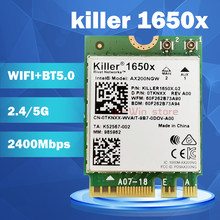 Ноутбук Killer 1650x, AC, два диапазона, 2,4 Гбит/с, беспроводная AX200NGW Wifi карта AX200NGW 802.11AX/AC/A/B/G/N, Bluetooth 5,0, для Windows 10