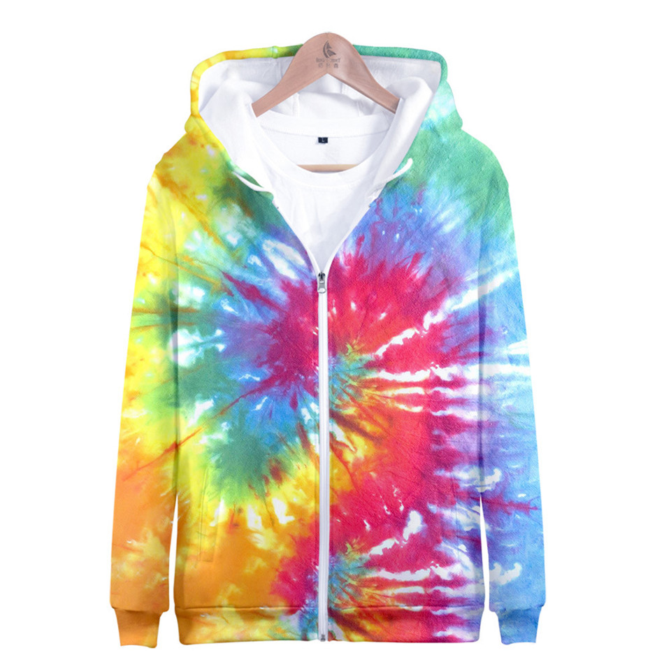 Women//Mens Colorful Tie-dye 3D Print Casual Sweatshirt Hoodies Pullover Tops 5XL