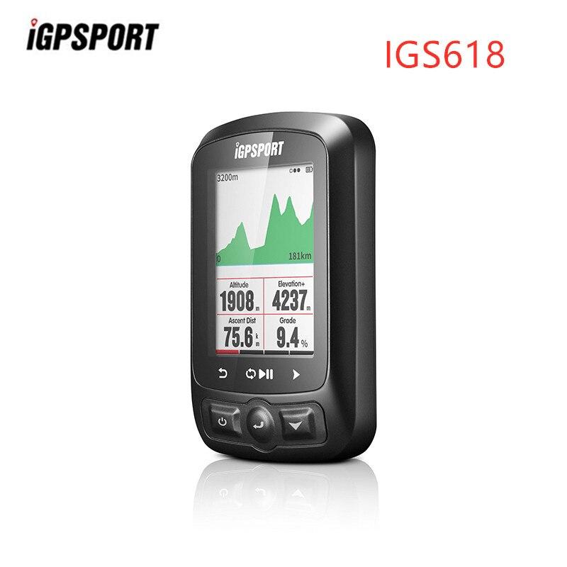 IGPSPORT IGS618 ANT + GPS ordinateur vélo vélo Bluetooth sans fil chronomètre étanche vélo capteur compteur de vitesse ordinateur