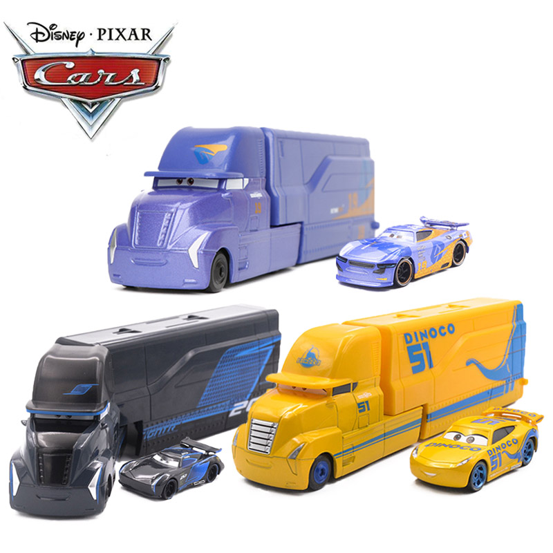 Disney Pixar Cars 2 3 Toys 1:55 Diecast Lightning McQueen Jackson Storm Mack Uncle Truck ABS Model Car Toy No19 Christmas Gifts