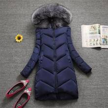 Plus size S-7XL Women Outerwear Big Fur Fashion Winter Hooded Coat casual Down Parka Female Winter Jacket Warm Long Overcoat(China)