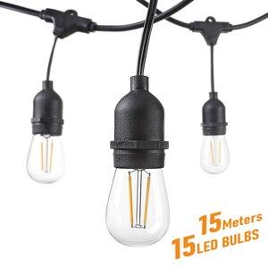 LED Bulb String Lights 15M 15