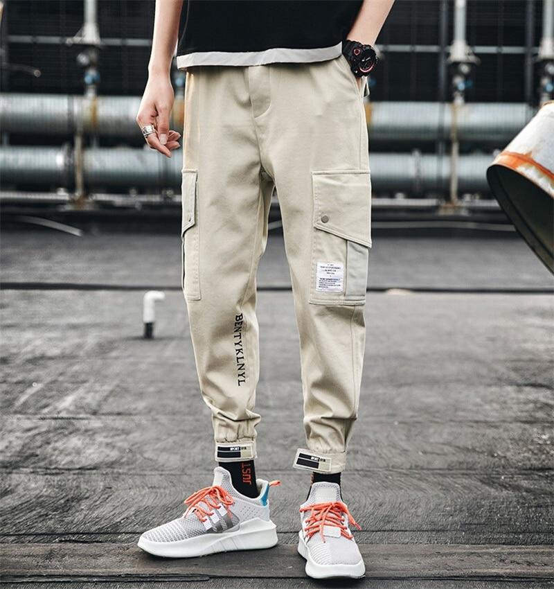 2020 Spring Mens Harem Pants Streetwear Jogger Trousers Men Hip Hop Sweatpants Trousers Loose Overalls Cargo Harem Pants