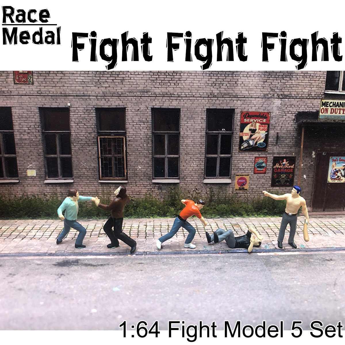 6Pcs/set Scale Outdoor Attack Group Fights Man Tactical Baseball Figure People Scenario Model Scene For Race Medal Matchbox