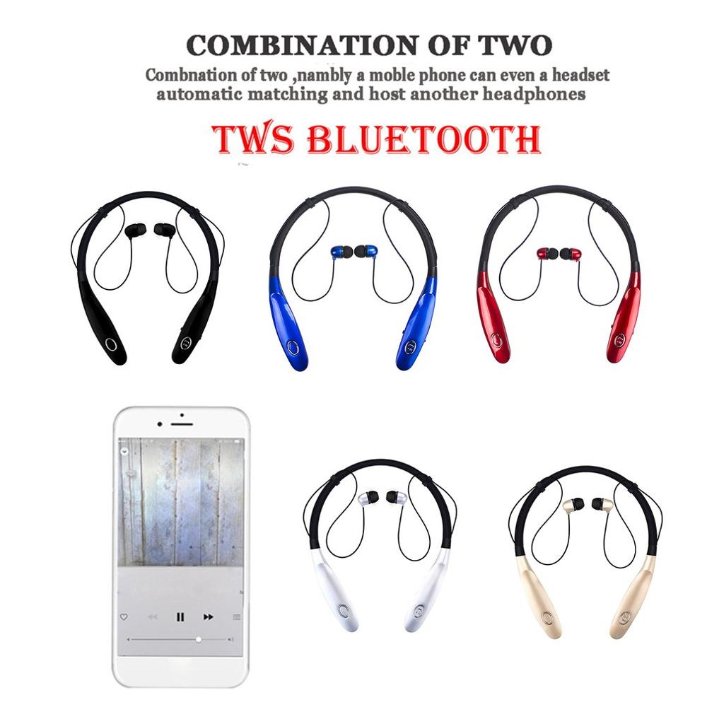 Hbs-900S Headphone Wireless Neck Hanging Sport Wireless Earphones Waterproof Handsfree With Microphone