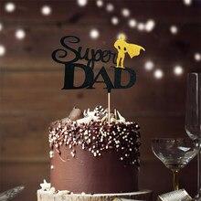 2021 super pai dia dos pais bolo toppers papel de ouro papai bolo de aniversário topper para o dia dos pais festa de aniversário decorações do bolo