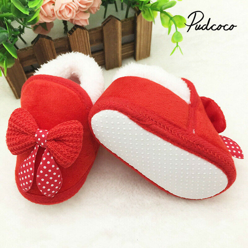 Pudcoco 2020 Fashion Newborn Infant Baby Girls Boys Shoes Bow-knot Fur Ankle Length Winter Warm Snow Boots 0-18M New Years Gift