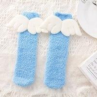 Baby Boy Girl Cute Angel Socks Wing Design Cotton Long Socks Party Infant Children Soft Crib Leg Warmer New 5 Pair/Set