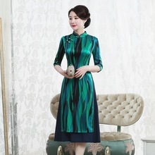 고급 Cheongsam 드레스의 고대 방법을 복원하는 매일 개선에 슬리브 젊은 여성 패션의 2019 판매 7 분