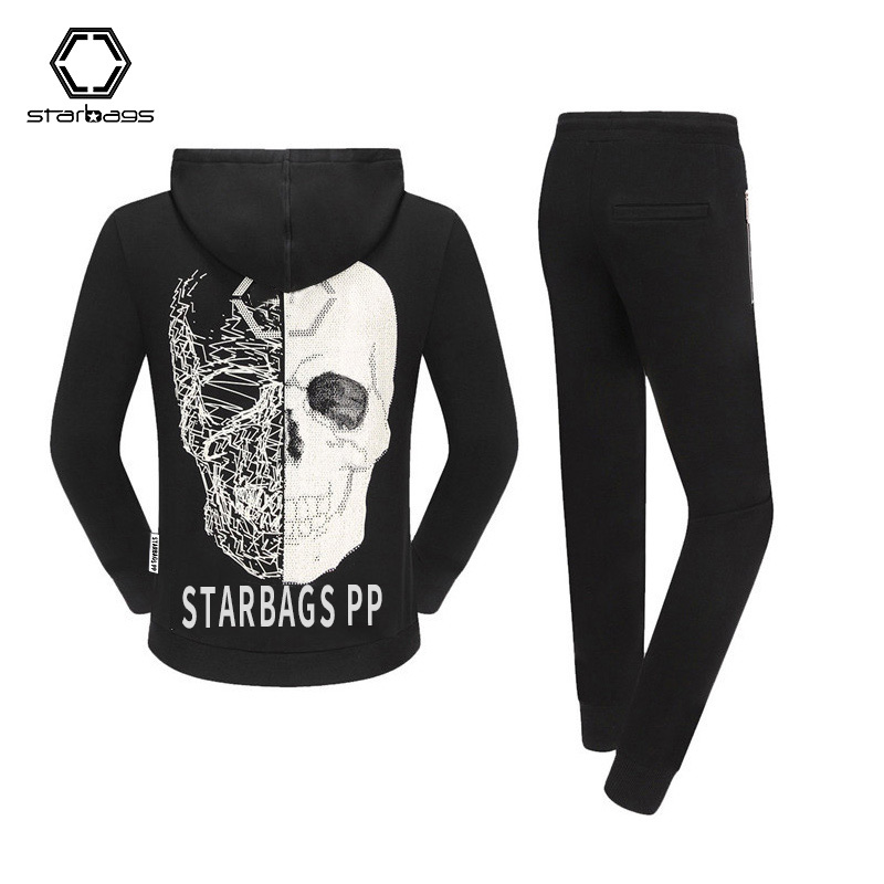 Starbags PP 2020 Hoodie Sports Leisure Men's Skull Hot Drill Tide Hooded Suit Popular Logo New Germany
