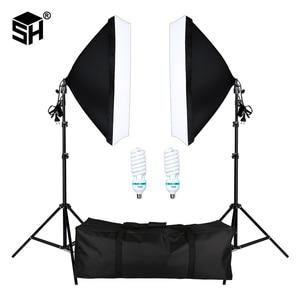Image 1 - Professional Photography Softbox with E27 Socket Light Lighting Kit for Photo Studio Portraits, Photography and Video Shooting