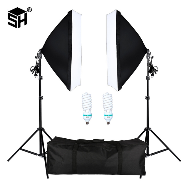 Professional Photography Softbox with E27 Socket Light Lighting Kit for Photo Studio Portraits, Photography and Video Shooting