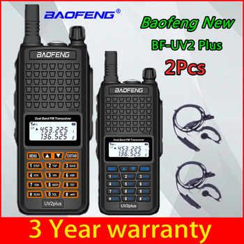 2pcs Baofeng UV2-Plus Cb Ham New Walkie-talkie Radio HF Transceiver UHF VHF Radio IP68 Waterproof 2pcs Long Distance 25km UV-5R - Category 🛒 Cellphones & Telecommunications