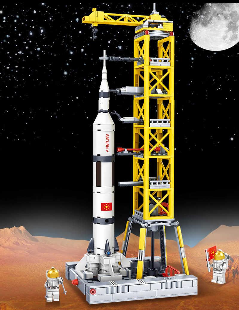 Havacılık uzay mekiği uydu lansmanı uyumlu DIY teknik yapı taşı uzay gemisi roket uzay istasyonu uzay aracı oyuncaklar