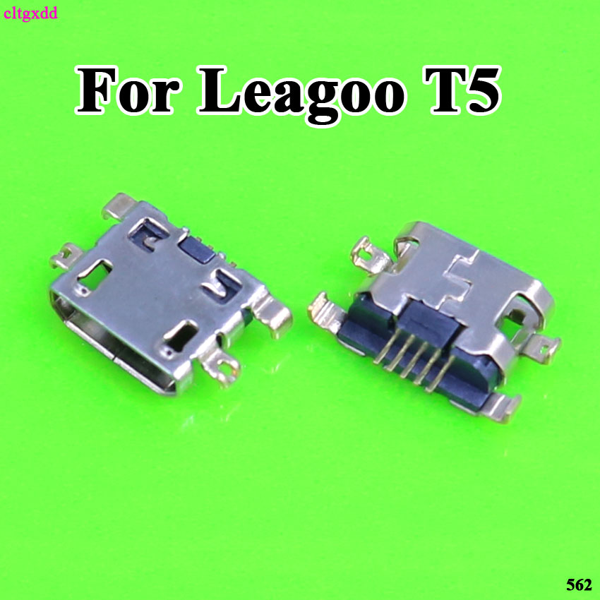 cltgxdd 10pcs Charging Port Dock B type Female Power Connector <font><b>Plug</b></font> Socket Micro USB For Leagoo <font><b>T5</b></font> MT6750T T5C M8 M8 Pro Shark 1 image